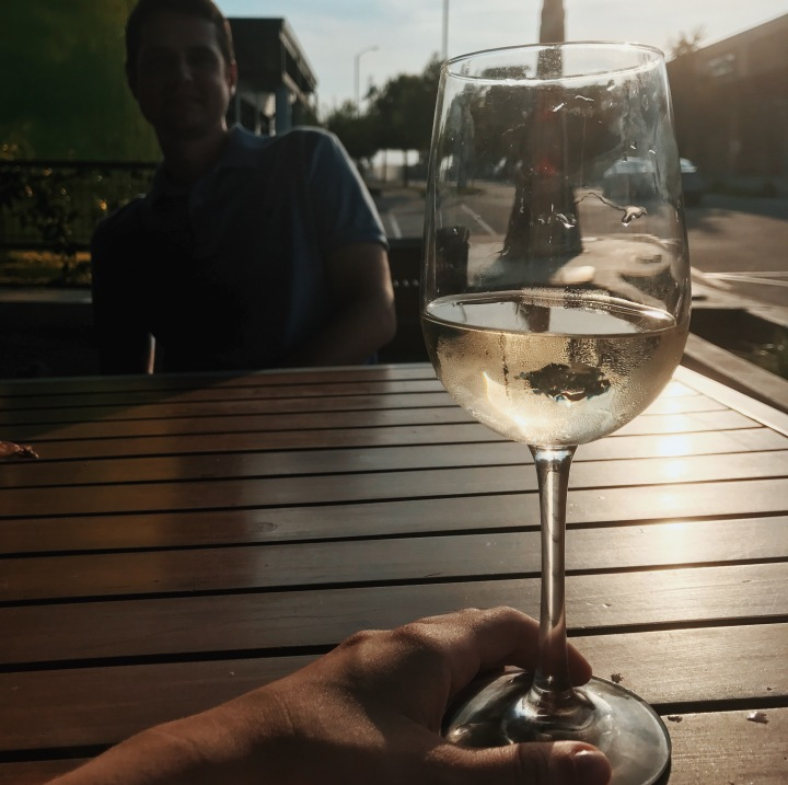 wine late afternoon
