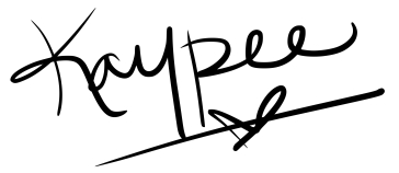 Kaypee Does a Thing signature