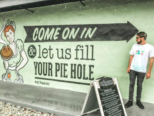 Fill your pie hole mural