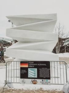 Folded Snow Sculpture