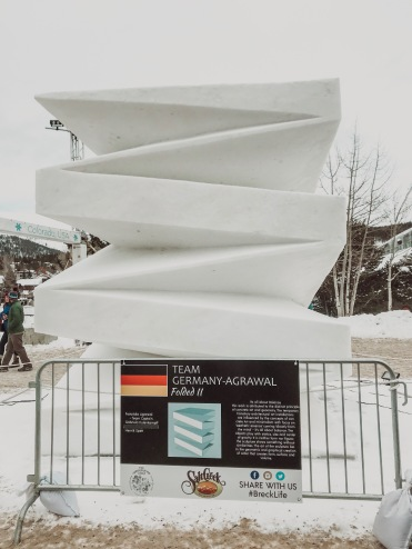 Folded Snow Sculpture
