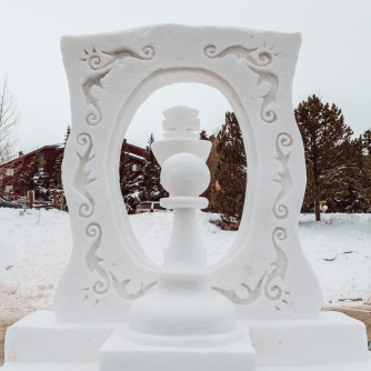 Chess Snow Sculpture
