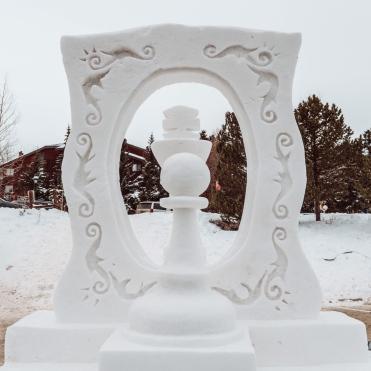 Chess Snow Sculpture